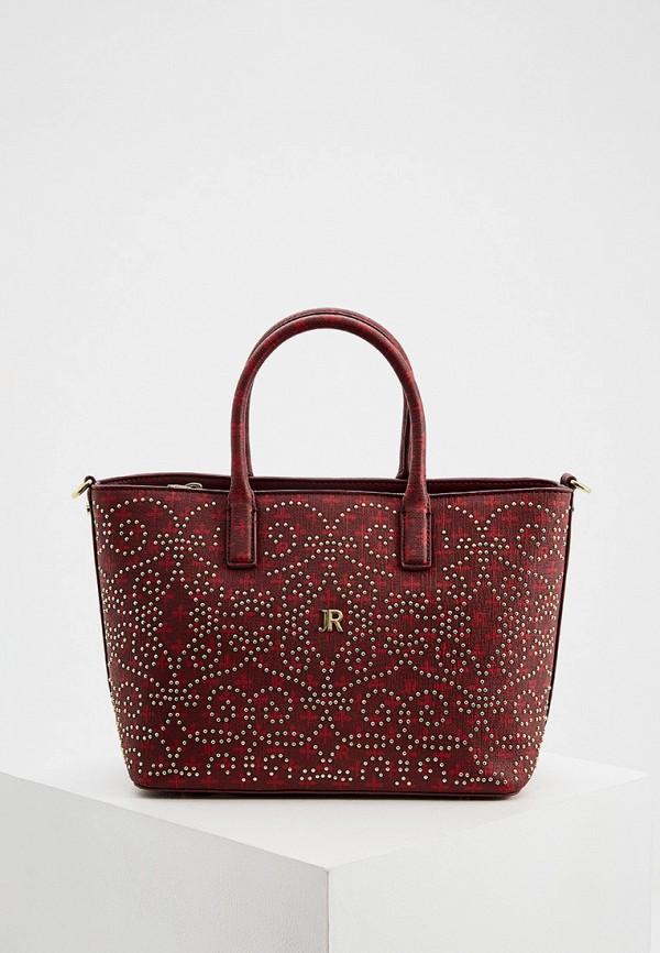 женская сумка john richmond, бордовая