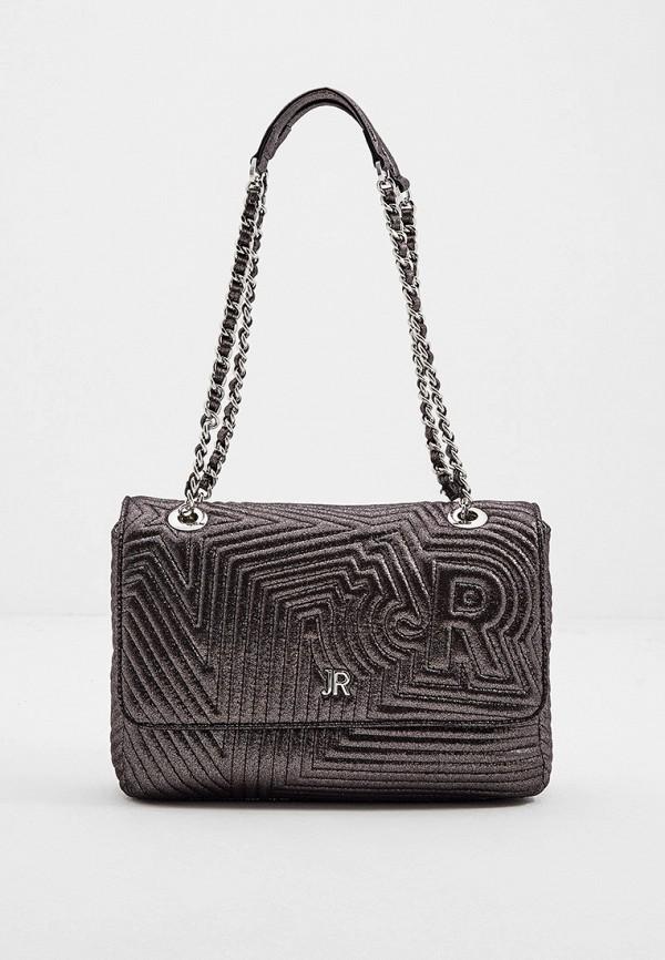женская сумка через плечо john richmond, серебряная