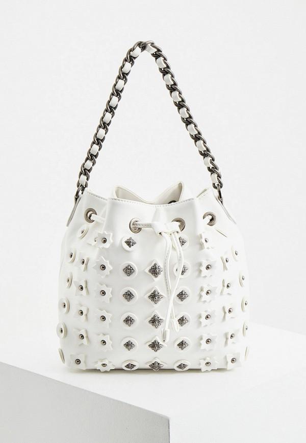 женская сумка-ведро john richmond, белая