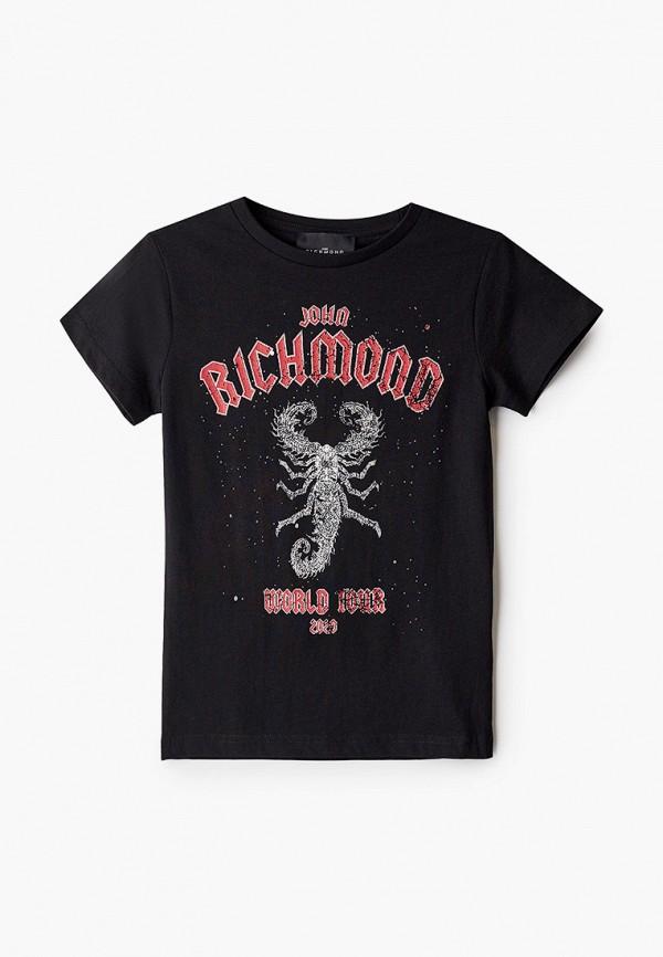футболка с коротким рукавом john richmond для мальчика, черная