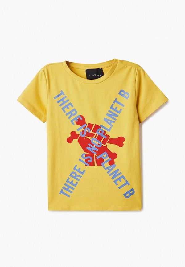 футболка с коротким рукавом john richmond для мальчика, желтая