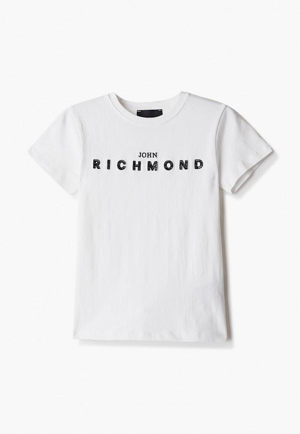 футболка с коротким рукавом john richmond для девочки, белая