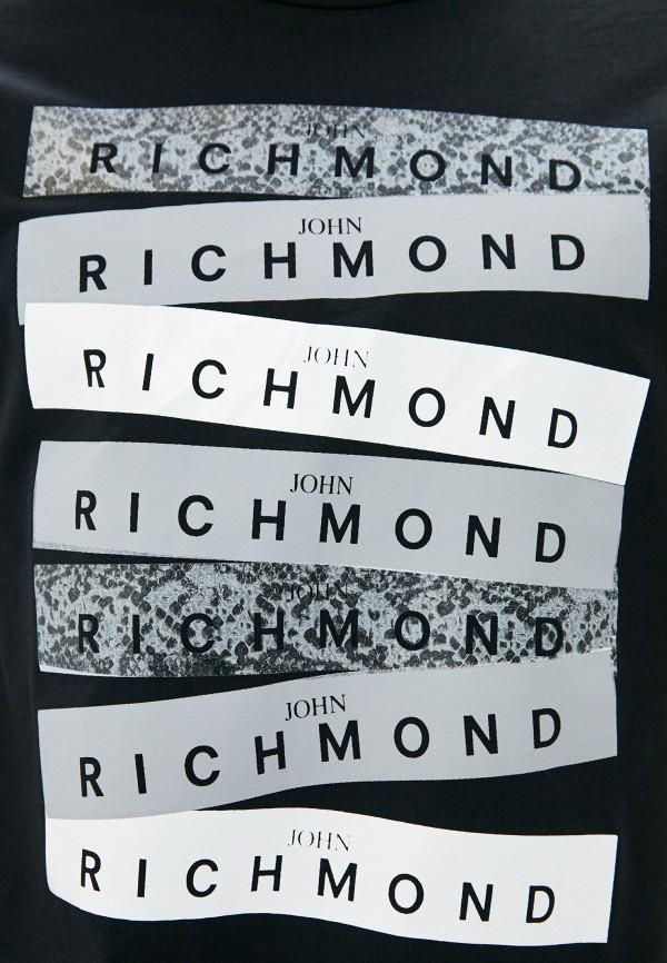 Фото 4 - Мужскую футболку John Richmond черного цвета