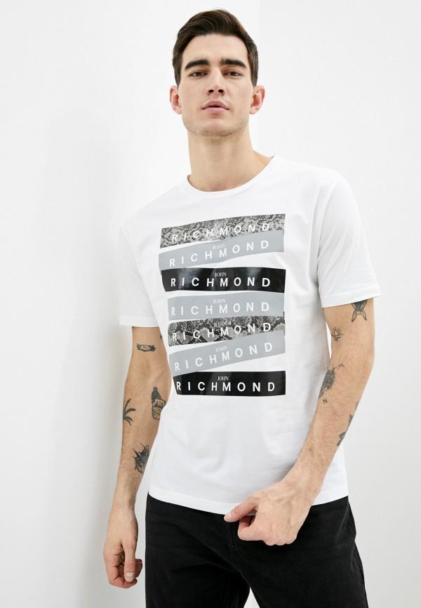 мужская футболка john richmond, белая
