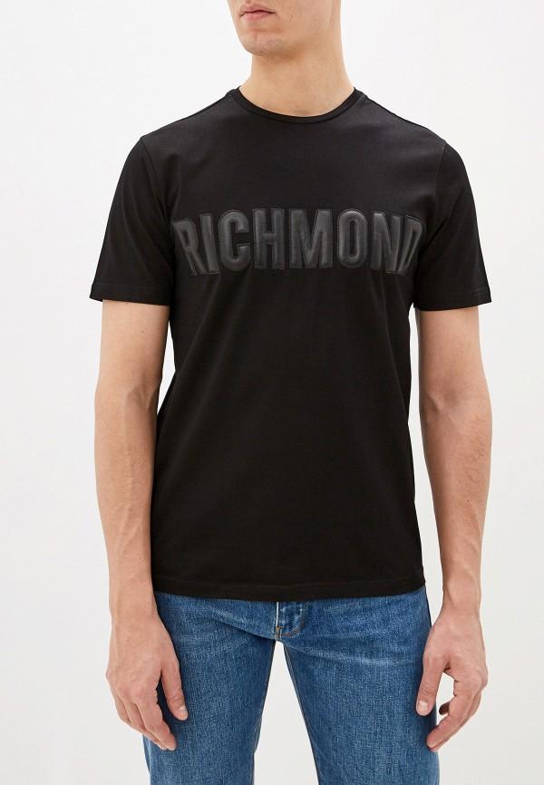 мужская футболка с коротким рукавом john richmond, черная