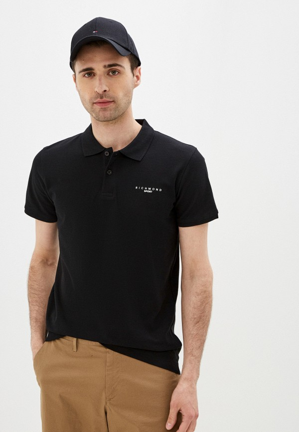 мужское поло с коротким рукавом john richmond, черное