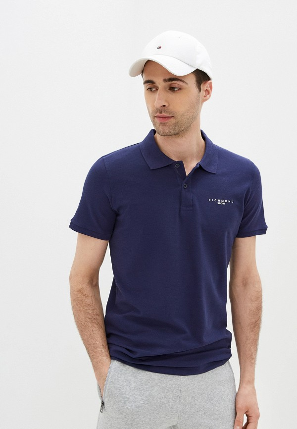 мужское поло с коротким рукавом john richmond, синее