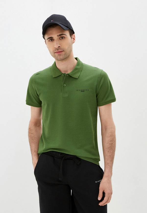 мужское поло с коротким рукавом john richmond, зеленое