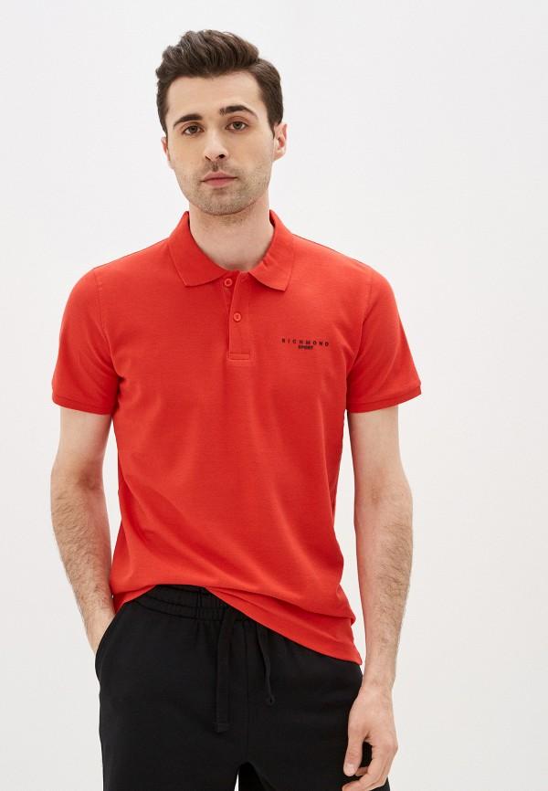 мужское поло с коротким рукавом john richmond, красное