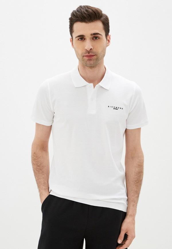 мужское поло с коротким рукавом john richmond, белое