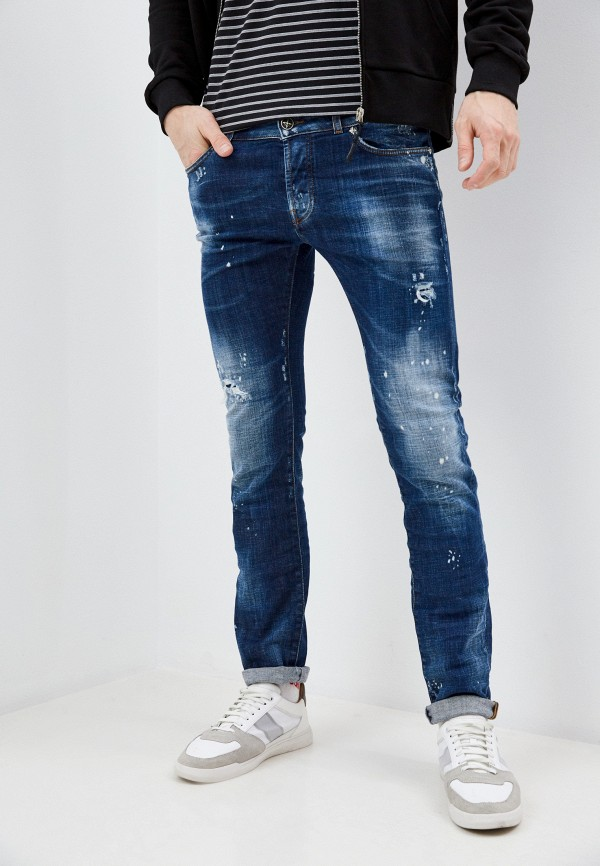мужские зауженные джинсы john richmond, синие