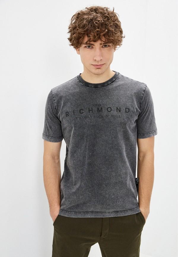 мужская футболка john richmond, серая