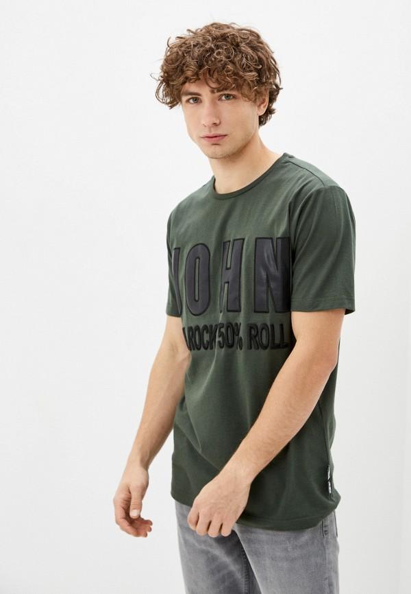 мужская футболка john richmond, хаки