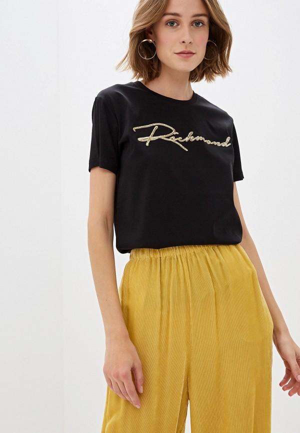 женская футболка john richmond, черная