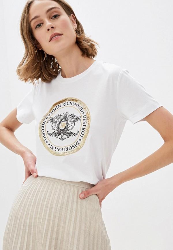 женская футболка john richmond, белая
