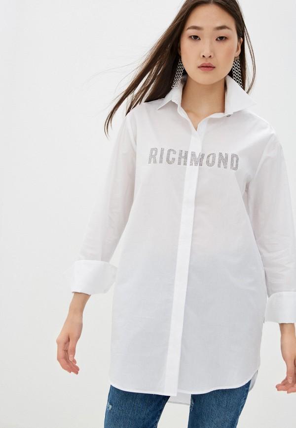 женская рубашка с длинным рукавом john richmond, белая