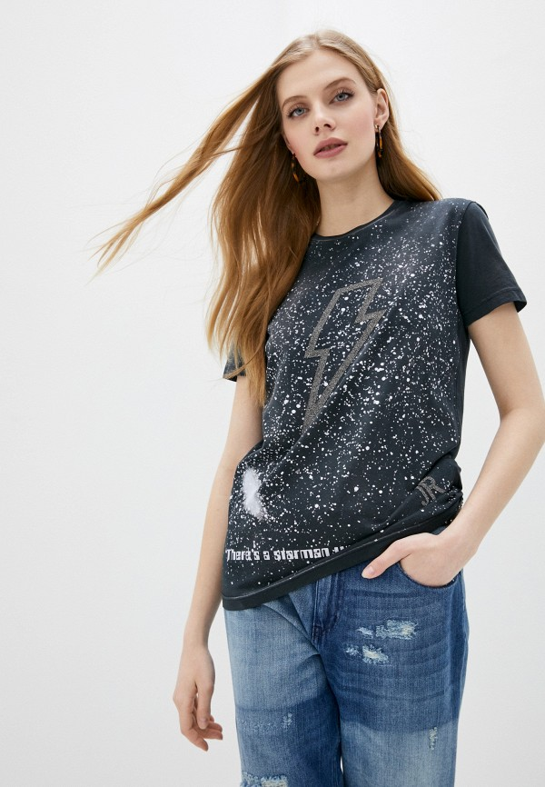 женская футболка john richmond, серая