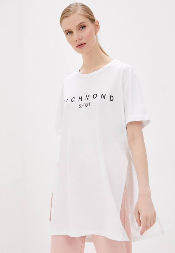 женское платье-футболки john richmond, белое