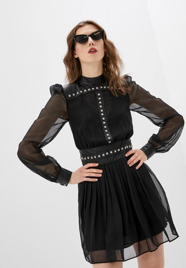 женское повседневные платье john richmond, черное
