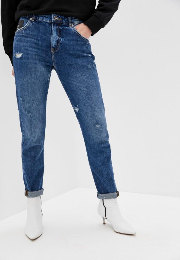 женские джинсы бойфренд john richmond, синие
