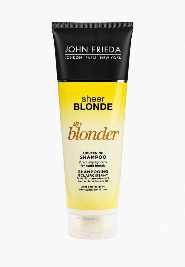 Купить Шампунь John Frieda, Sheer Blonde Go Blonder осветляющий для натуральных, мелированных и окрашенных светлых волос 250 мл, jo005lukkq50, прозрачный, Весна-лето 2019