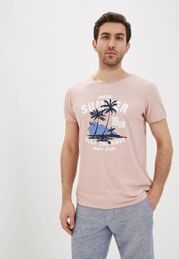 мужская футболка с коротким рукавом joop!, розовая