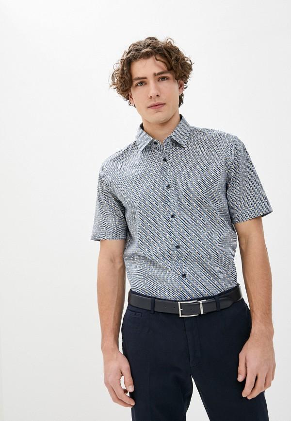 мужская рубашка с коротким рукавом joop!, синяя