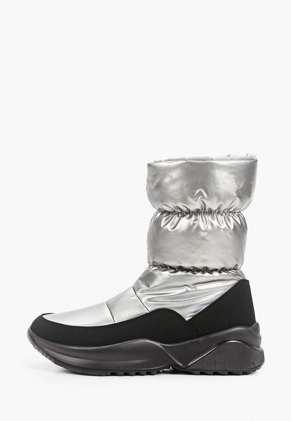 дутики jog dog для девочки, серебряные