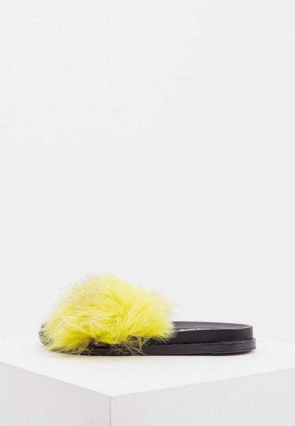 женское сабо jog dog, желтое