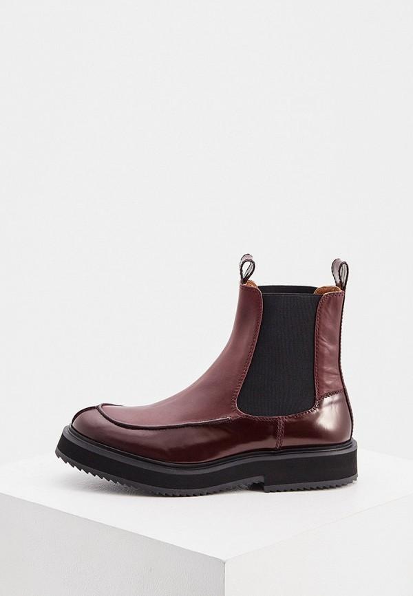 женские ботинки joseph, бордовые