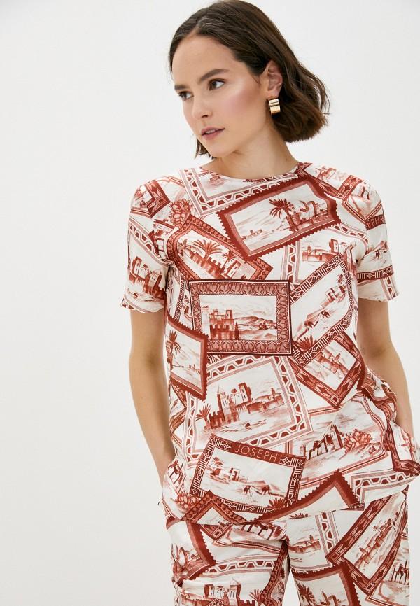 женская блузка joseph, коричневая