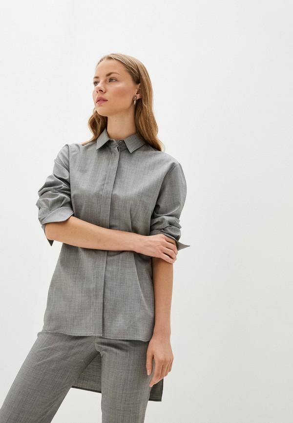 женская рубашка с длинным рукавом joseph, серая