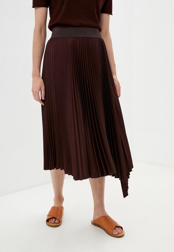 женская юбка joseph, бордовая