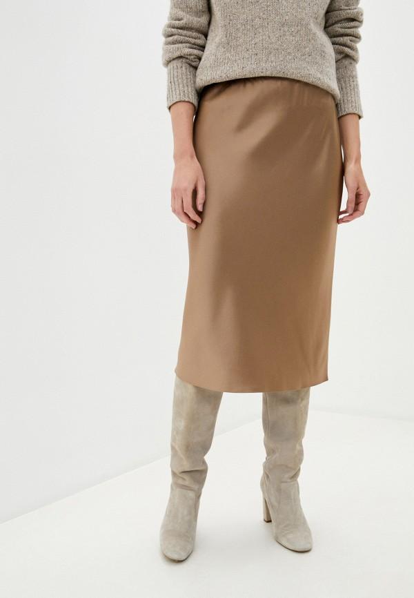 женская прямые юбка joseph, бежевая