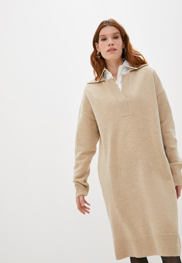 женское платье joseph, бежевое