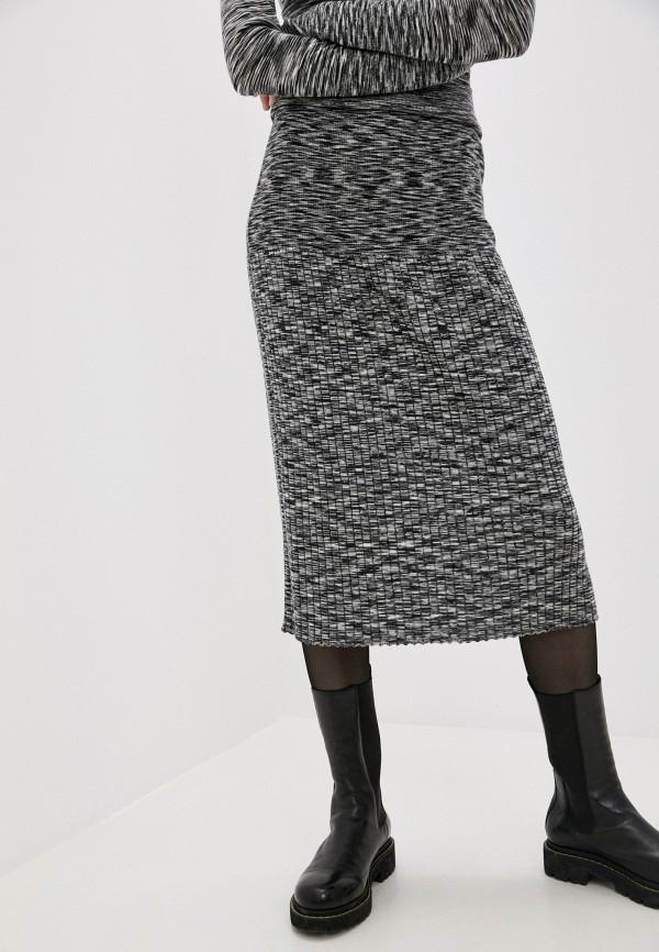 женская прямые юбка joseph, серая