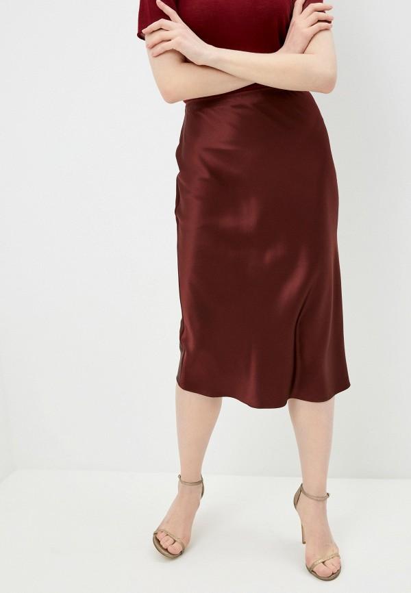 женская юбка joseph, коричневая