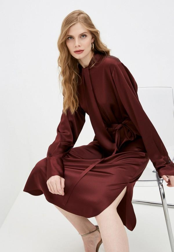 женское повседневные платье joseph, бордовое