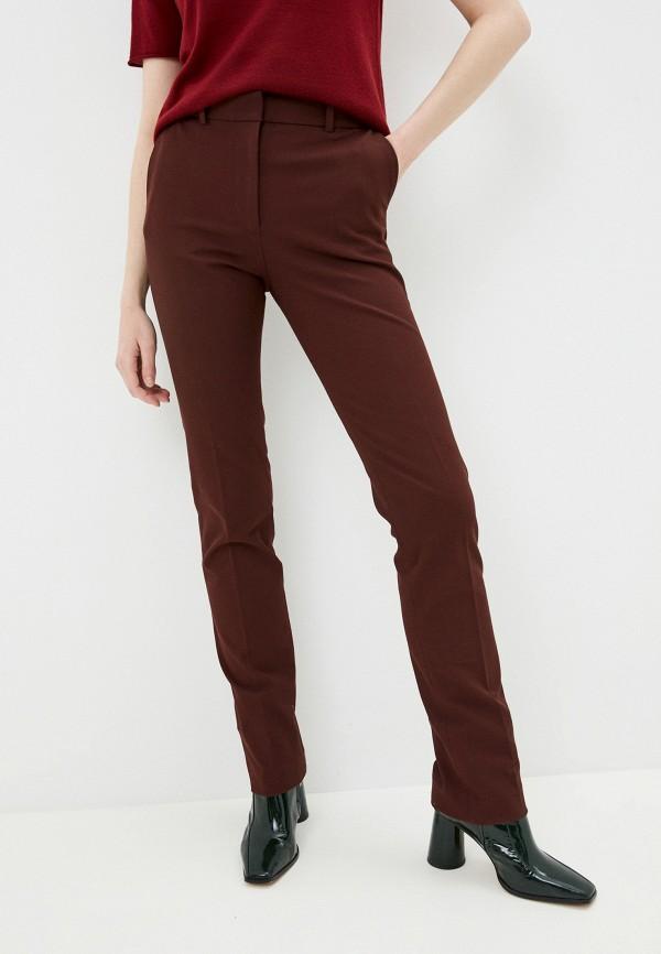 женские повседневные брюки joseph, бордовые
