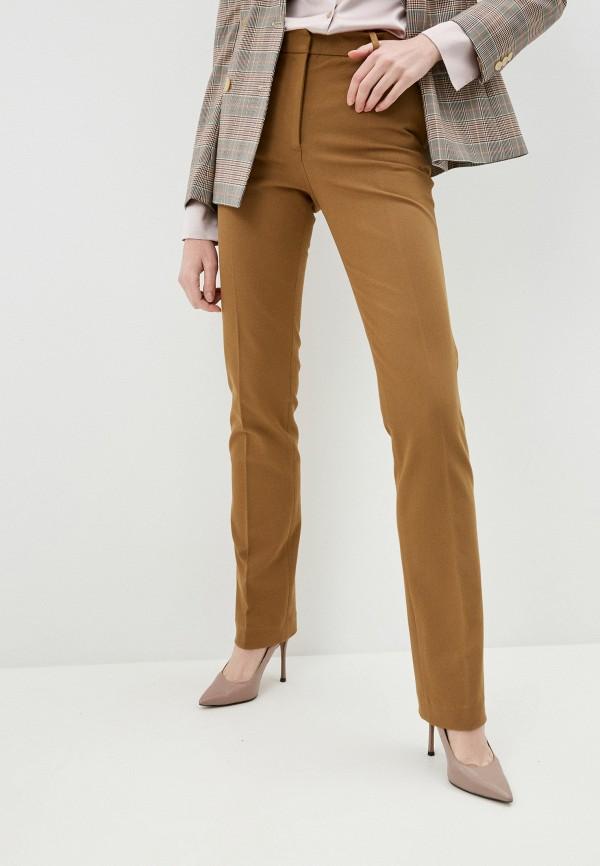 женские повседневные брюки joseph, коричневые