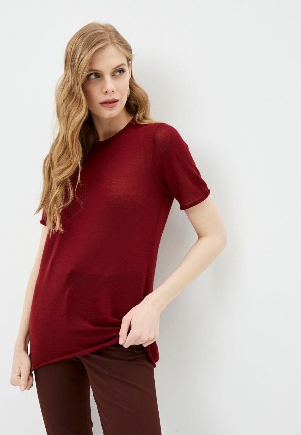 женская футболка joseph, бордовая