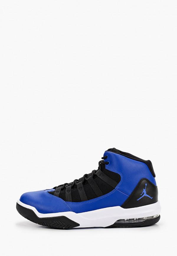 мужские высокие кроссовки jordan, синие