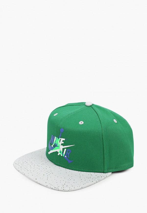 женская бейсболка jordan, зеленая