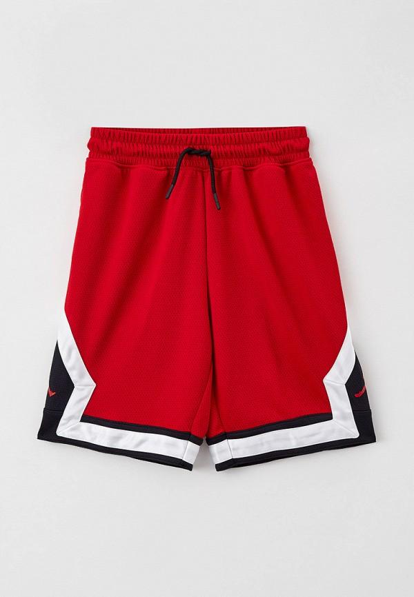 Шорты спортивные Jordan красного цвета