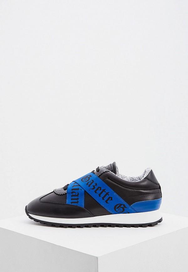 мужские низкие кроссовки john galliano, черные