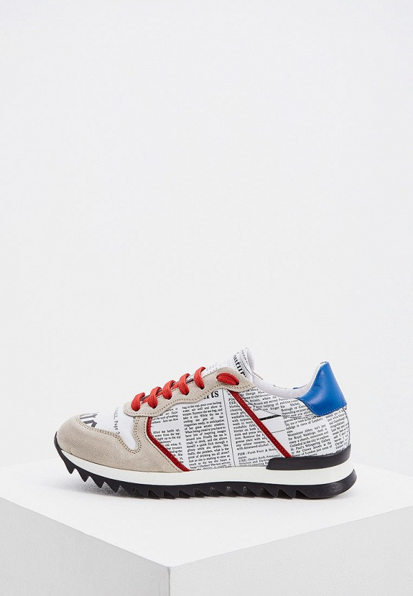женские низкие кроссовки john galliano, белые
