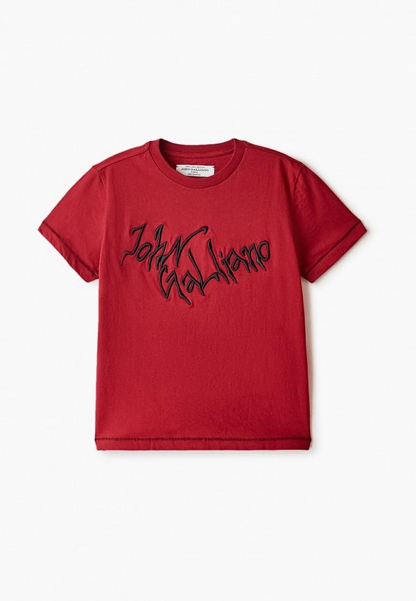 футболка с коротким рукавом john galliano для мальчика, красная