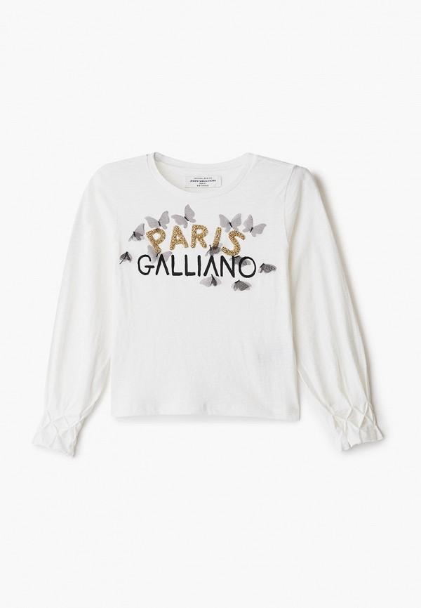 лонгслив john galliano для девочки, белый