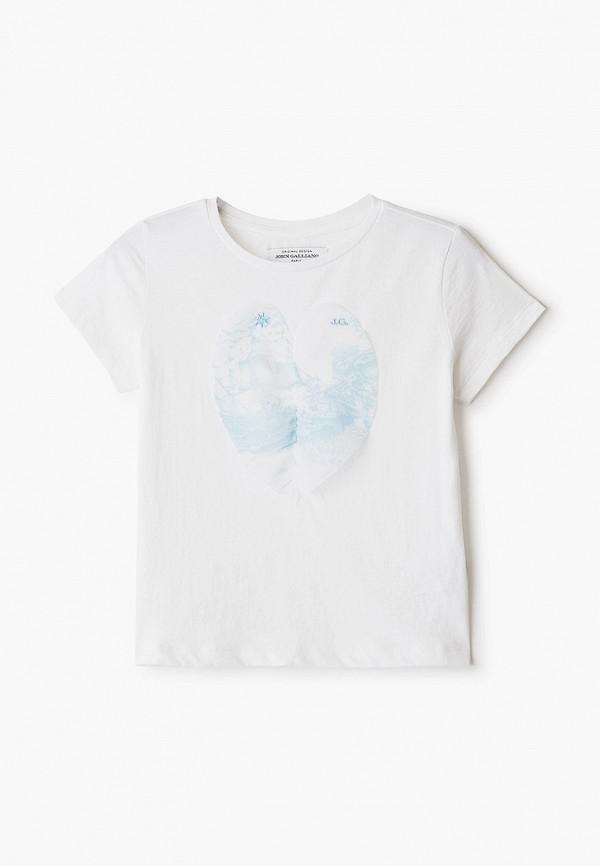 футболка с коротким рукавом john galliano для девочки, белая