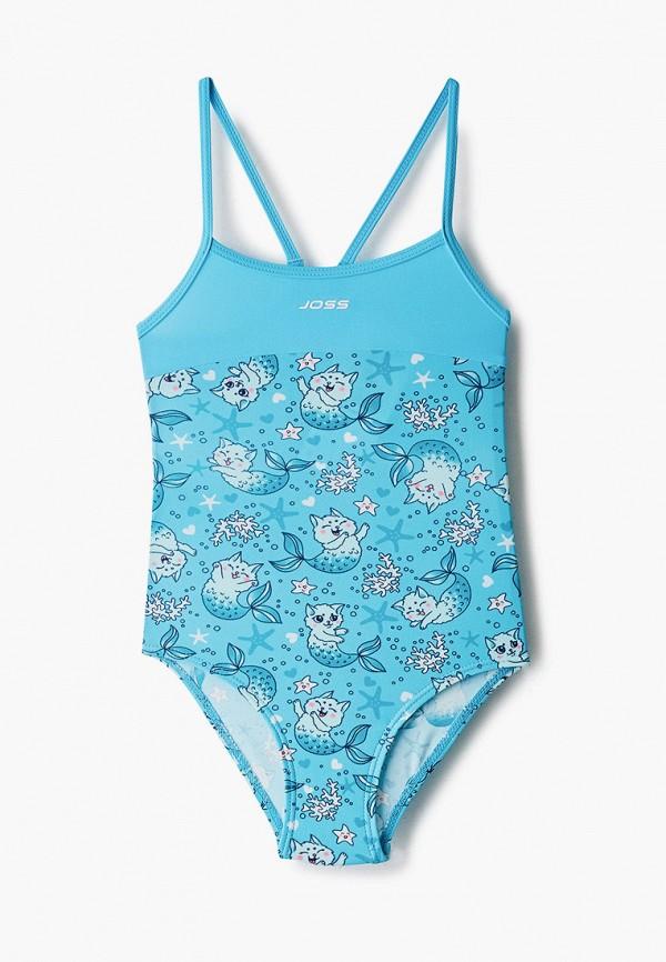 купальник joss для девочки, голубой